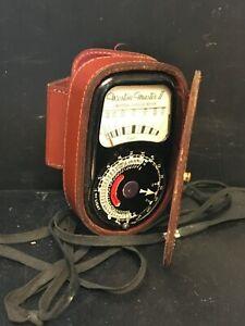 Vintage Sangamo Weston Master II Exposure light meter with case