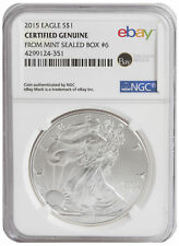 2015 $1 1oz Silver American Eagle -- NGC Certified from U.S. Mint Sealed Box 6