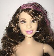 Barbie Evolution Fashionistas Pop Star Curvy Body Style Nude Doll Curly Hair NEW