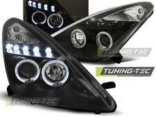 FARI ANTERIORI HEADLIGHTS TOYOTA CELICA T230 99-05 ANGEL EYES BLACK *2923
