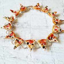 Unique Pizza Slices Bracelet handmade Deluxe Pepperoni miniature Food cheese