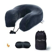Sleepy Ride Memory Foam Airplane Neck Pillow Travel Kit Includes Neck Pillow, Pl