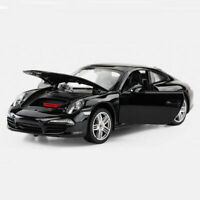 1:24 Porsche 911 Carrera S Coupe Static Model Car Diecast Collectable Gift Black