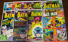 BATMAN LOT OF 11 ISSUES 167 168 170 173 178 179 184 192 193 - VG- TO FN-