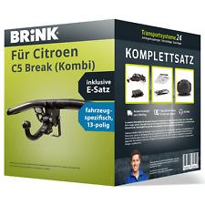 Anhängerkupplung BRINK abnehmbar für CITROEN C5 Break (Kombi) E-Satz PKW