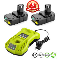 2-Pack 18V 2.5Ah Lithium Battery & Charger Combo for Ryobi One+ P117 P102 P108