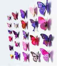 Home Room Wedding Decor 3D Butterfly Wall Sticker Magnet Art Applique 12PCS avis