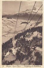 MEGEVE sports d'hiver 76 téléphérique de rochebrune timbrée 1962