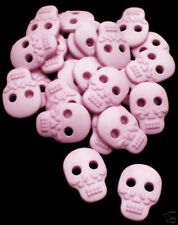 10 SMALL PALE PINK DAY OF THE DEAD SUGAR SKULL BUTTONS! DIA DE LOS MUERTOS GOTH