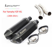 2004-2014 YZF-R1 Exhaust Pipe for Yamaha Motorcycle Slip On 51mm Mid Muffler L R