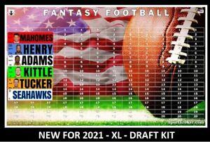 2021 Fantasy Football Draft Board Kit XL 4 x 1 Labels with Rookies