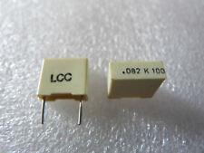 10 condensateurs MKT 82nF 100V 10% LCC