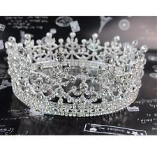 4.5cm High Full Crystal Luxury Wedding Bridal Party Pageant Prom Tiara Crown New