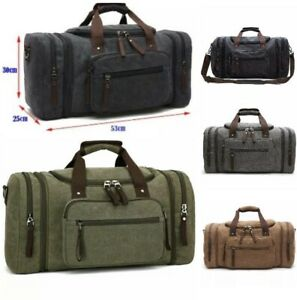 Canvas Fitness Gym Sports Leisure Travel Overnight Expandable Holdall Duffel Bag