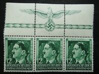 Germany Nazi 1944 Stamps MNH Adolf Hitler 55th birthday Swastika Eagle Generalgo