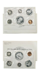Panama Official Proof Set 6 Coins 1972 United States Mint Packaging KM PS10