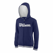 Wilson Kinder Team Script Fullzip Hoody Youth Sweatjacke dunkelblau NEU