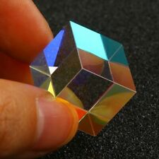 1.5cm Cube Defective Cross Dichroic Prism RGB Combiner Splitter Glass Decoration