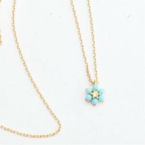 Kate Spade New York Miosotis Flower Mini Pendant Necklace