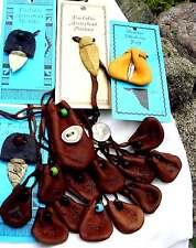 GROUP LOT MEDICINE BAGS Pouches Leather Pendants 2249