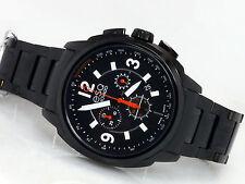 NEW ESQ MOVADO 07301418 BLACK CHRONOGRAPH SWISS QUARTZ MEN'S STEEL WATCH EXCEL