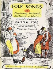 Folk Songs of England Ireland Scotland and Wales Piano Vocal Guitar Music Book