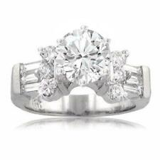 2.90 CT Ladies Round Cut Diamond Engagement Ring Platinum High Quality Diamond