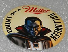 1995 Count on a Miller Halloween Beer Pin New Old Stock! Count Dracula Nos