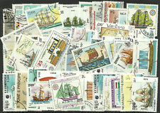 Collection Packet of 100 Different SHIPS BOATS Stamps of World