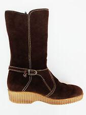 Winterstiefel True Vintage Damen Stiefel Chic Boots Gr. 38 UK 5 Braun Wildleder