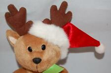 Christmas Bear Santa G A C 2001 Holiday Hat Antlers Gift Bag Plush Stuffed Toy