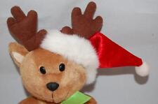 Christmas Bear Santa G A C 2001 Holiday Hat Antlers Gift Bag Plush Stuffed Toy