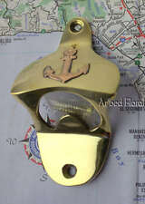 Nautical Ships Anchor Brass Bottle Opener Wall Mounted