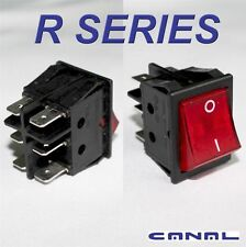 Canal R Series Red Illuminated Rocker Switch DPDT 20A 16A