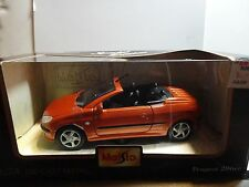 Maisto Special Edition 1:24 Orange Peugeot 206cc