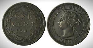 Canada 1896 Far 6 (INV0106) Large Cent *Rare* AU-55!!