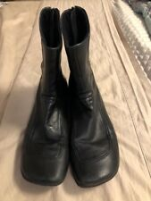 Diesel Flat Ankle Boots Leather BLACK BACK ZIPPER SZ 8.5 EUC