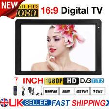 Freeview 1080p HDMI HD 7'' Portable TV Digital Television Player Pvr/usb 16 9