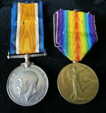 WW1 BRITISH WAR & VICTORY PAIR OF MEDALS- 20532 PTE W W COTTIS NOTTS & DERBY RGT