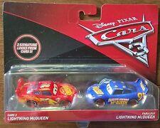 Disney Pixar Cars 3 Fabulous & Cars 3 Lightning Mcqueen 2 Pack Diecast Mattel