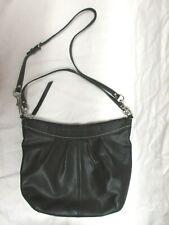 COACH  #13764 Ashley Soho Black Leather Pleated Hobo / Crossbody / Shoulder Bag