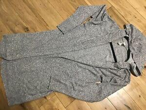 H&M Ladies Long Sleeve Grey Hooded Cardigan Size S