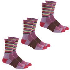 Darn Tough Women's Merino Wool Micro Crew Stripe Sock (Plum - S) - 3 Pack