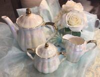 Grace's Teaware Iridescent White 5-Pc.Tea Set New