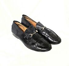Gucci Black Leather Princetown Loafers Mules Slip Ons 10 Horsebit 1953