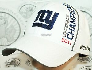 NEW YORK NY GIANTS REEBOK NFL XLVI - NFC CONFERENCE 2011 CHAMPIONS HAT - STYLE 1