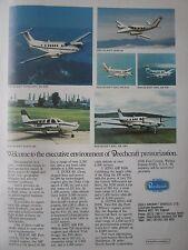 12/1982 PUB BEECHCRAFT AIRCRAFT AVION FLUGZEUG BARON KING AIR DUKE ORIGINAL AD
