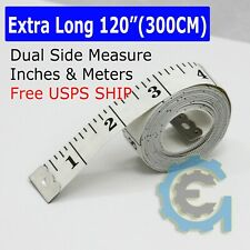 """120"""" White Body Measuring Ruler Sewing Cloth Tailor Tape Measure Seamstress Soft"""