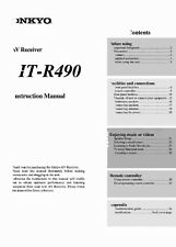Onkyo Integra HT-R490 Receiver Owners Instruction Manual