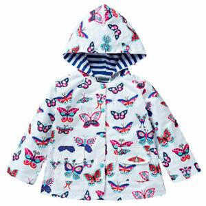 Kids Baby Girls Hooded Coat Toddler Wind-Proof / Rain-proof Outerwear Jacket